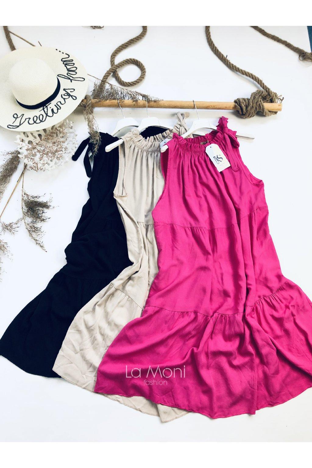 Nádherné nařasené šaty  bez rukávů