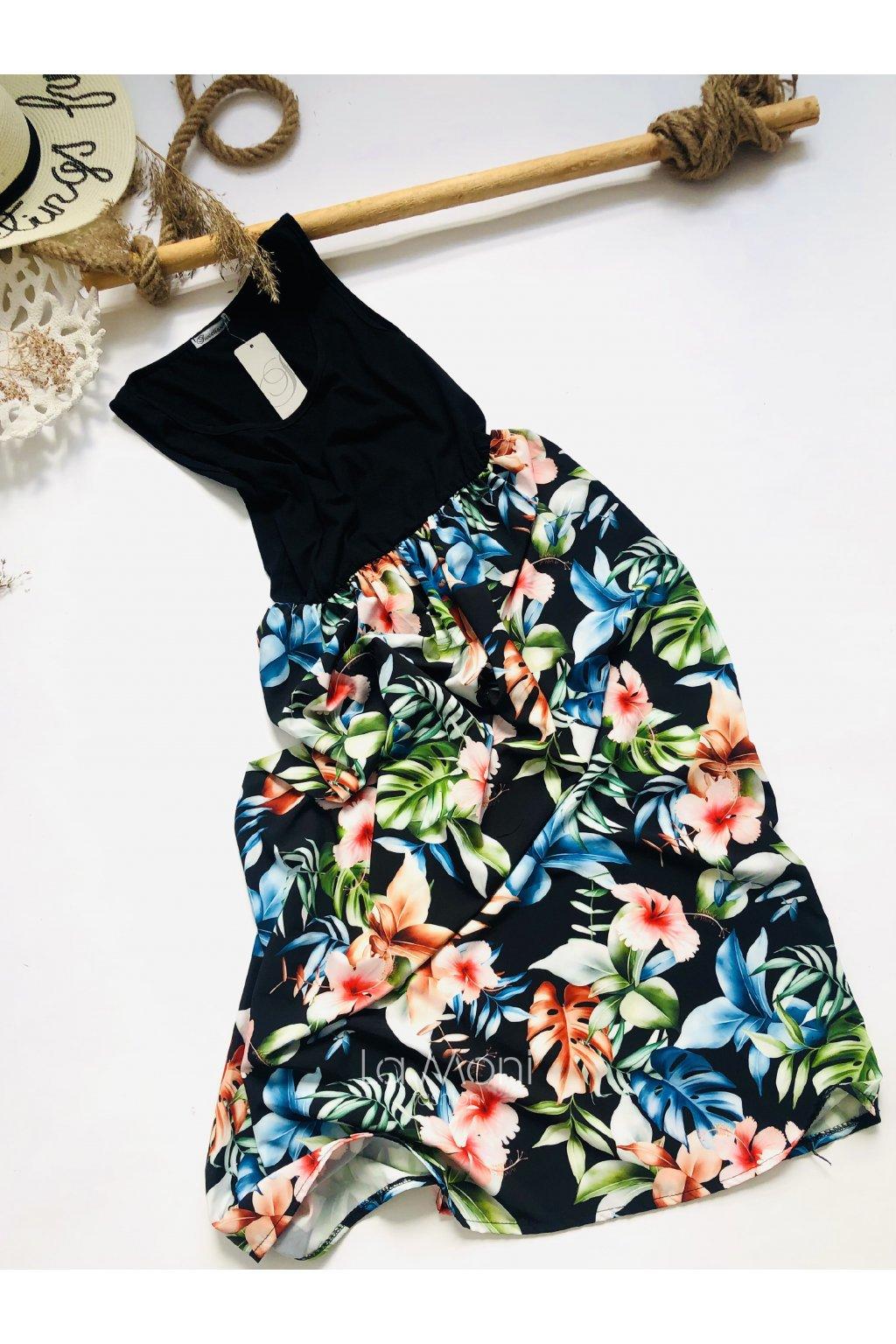 Letní vzorované šaty  bez rukávů