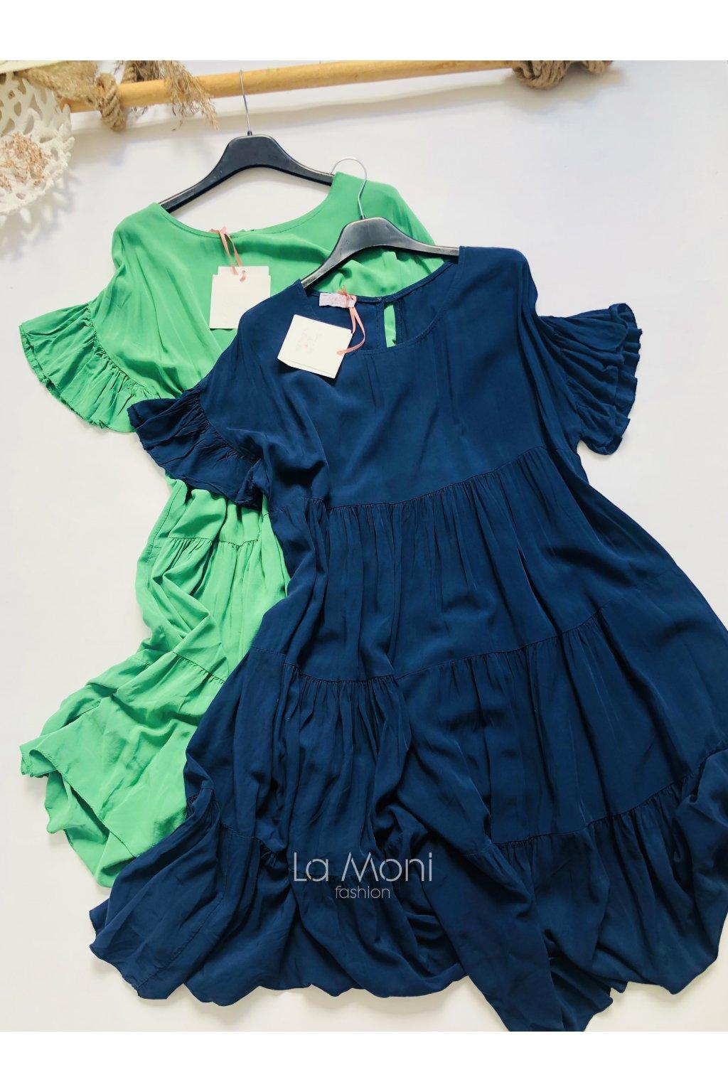 Lehounké šaty  s nařasením