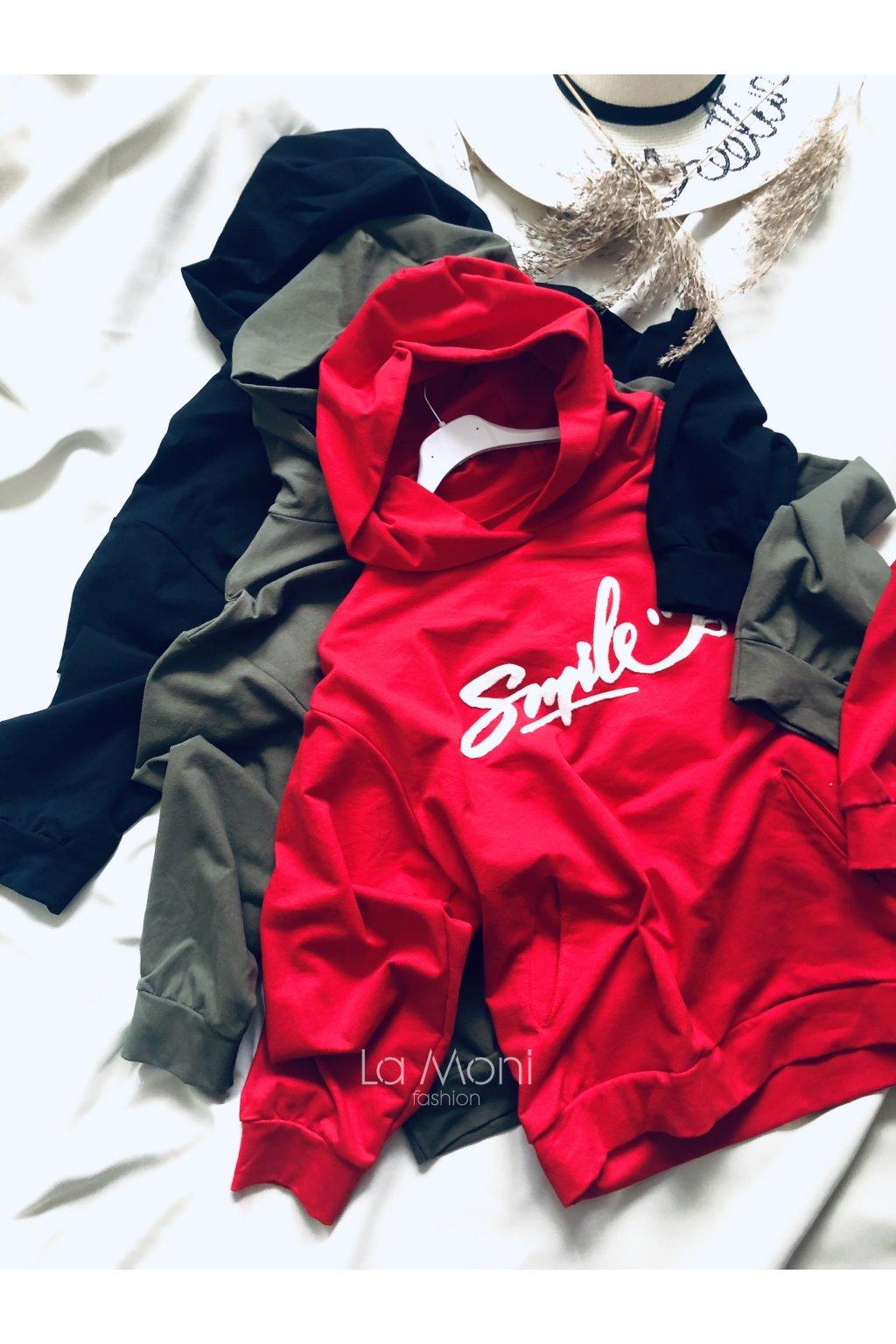 Mikina s kapucí Smile  :)