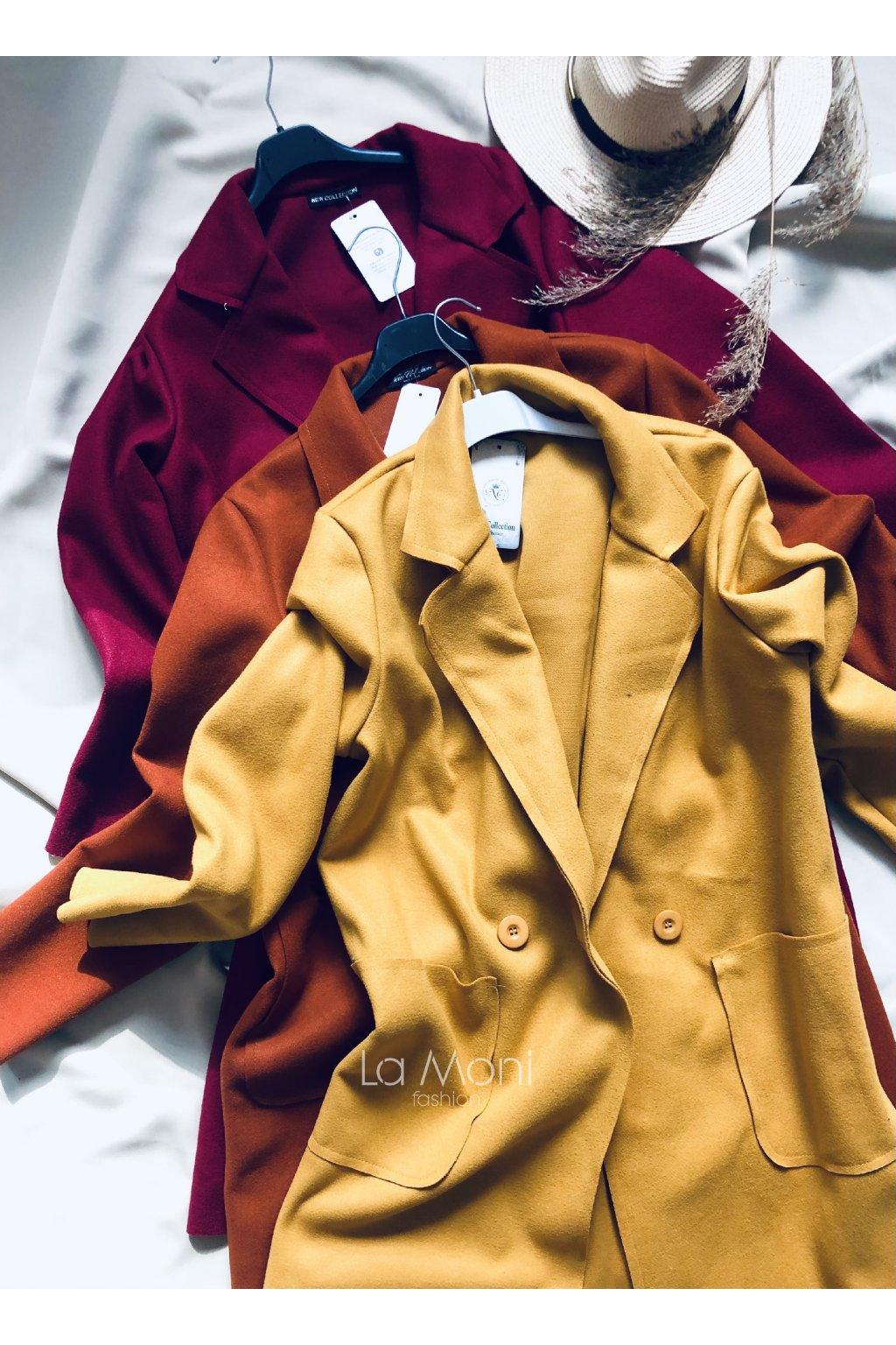 Podzimní volnější kabát