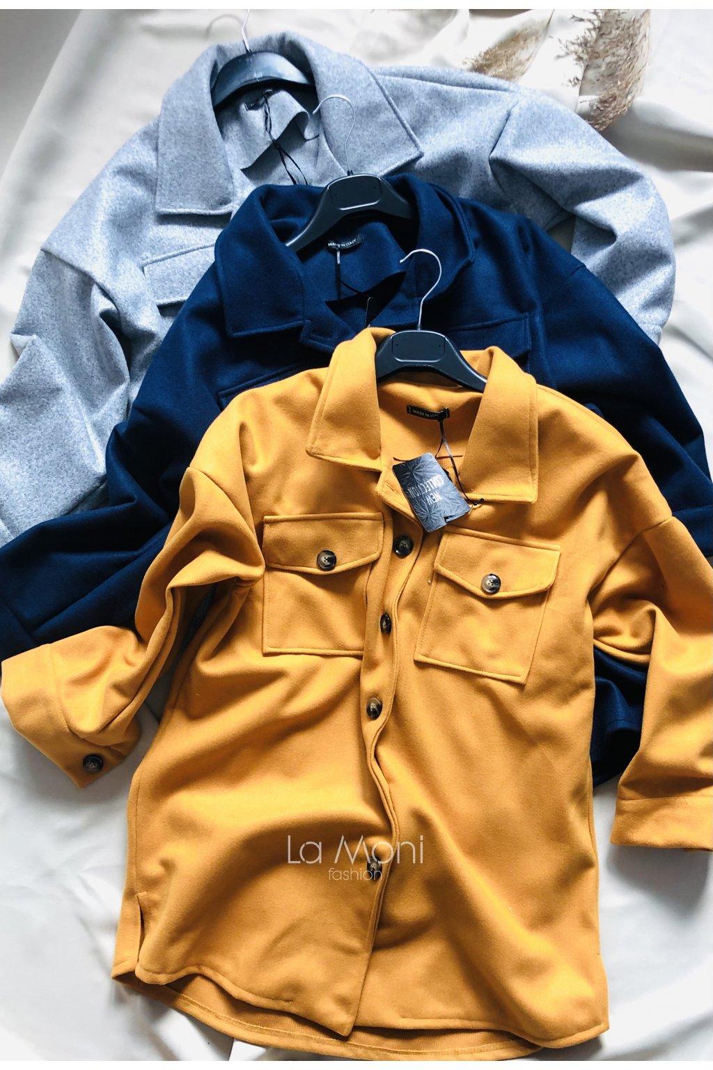 Oversize kabát- košilový střih - volný střih - STYLOVKA