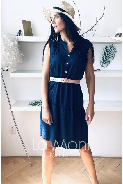Letní šaty s volány s rozhalenkou