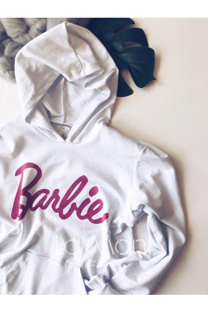 Mikina Barbie  s kapucou