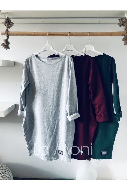 Úpletové šaty  pevnější - kapsy obyč