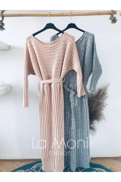 Svetříkové šaty se vzorem