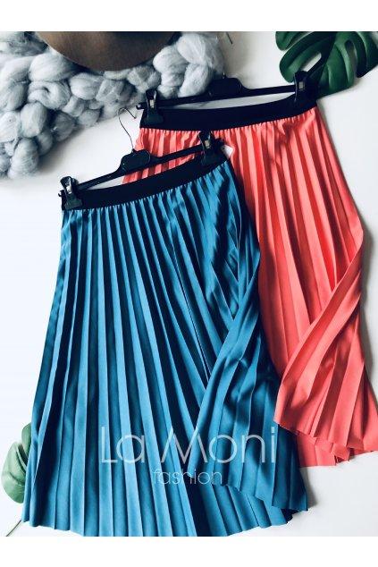 Luxusní plisovaná sukně lesklá