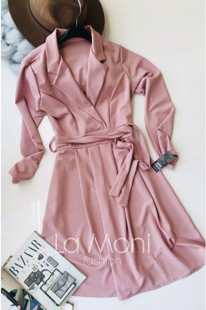Šaty se zvonovou sukní a rozhalenkou