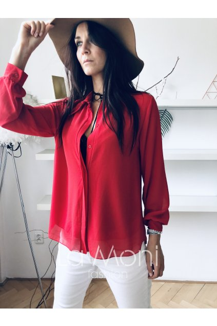 Elegantní  šifononová košile
