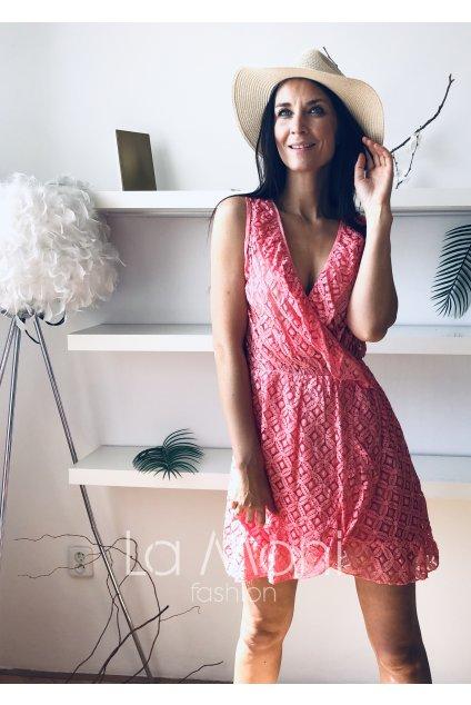 Letní krajkové křížené šaty