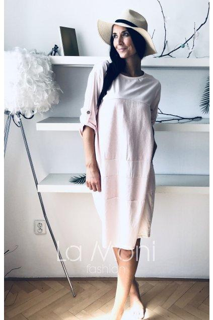 Oversize balonové šaty s kapsami