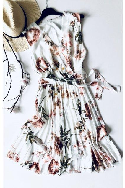 Nádherné šifonové šaty  s plisovanou sukní