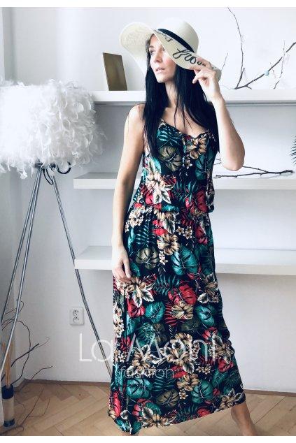 Letní dlouhé šaty na ramínka