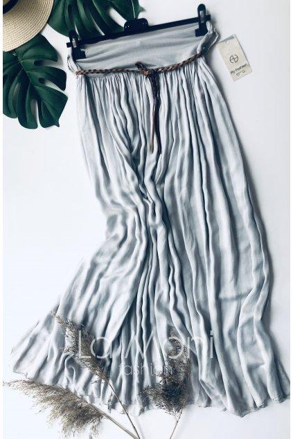Dlouhá sukně   v pase na gumu