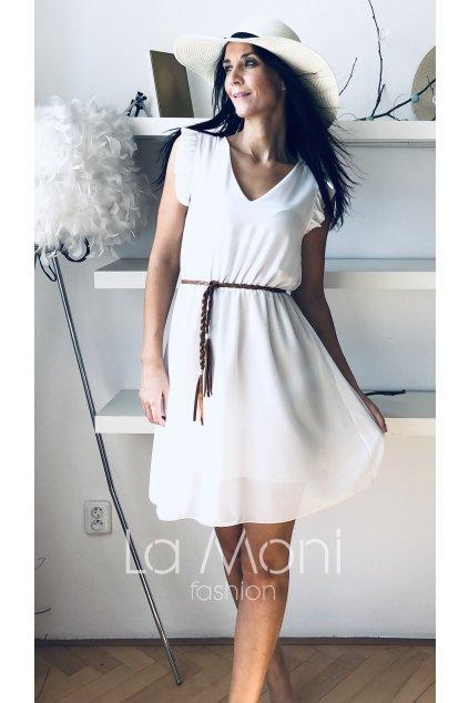 Šifonové šaty  s volánky do véčka