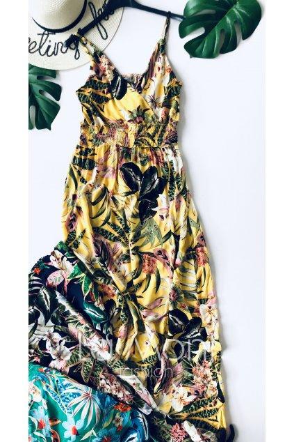 Dlouhé  úžasné letní šaty na ramínka