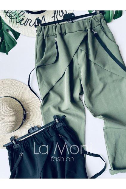 Stylové buggy kalhoty s kšandami