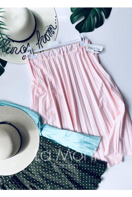 Plisovaná sukně s puntíky