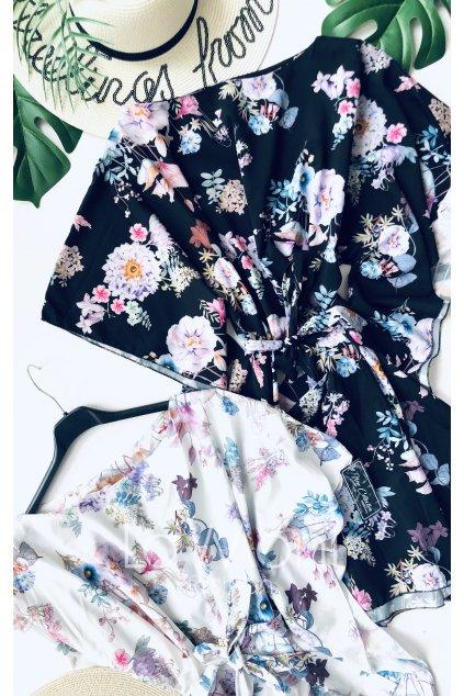 Květované šaty- tunka  netopýr