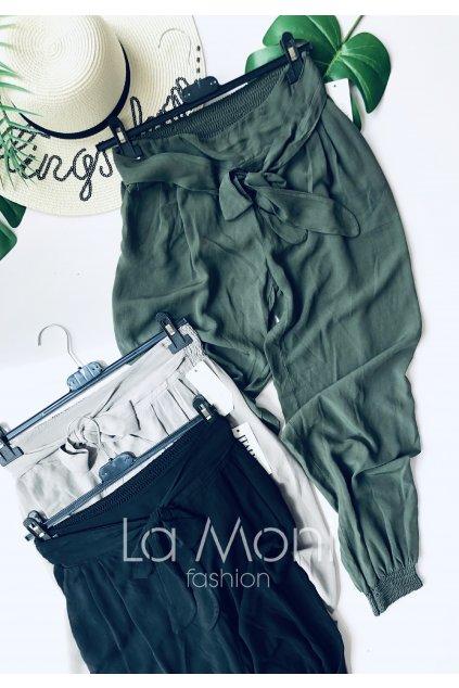 Lehounké letní kalhoty na gumu