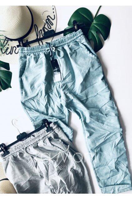 Kalhoty na gumu  -  elastická džínovina