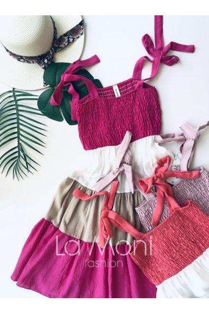 Nádherné letní pruhované šaty