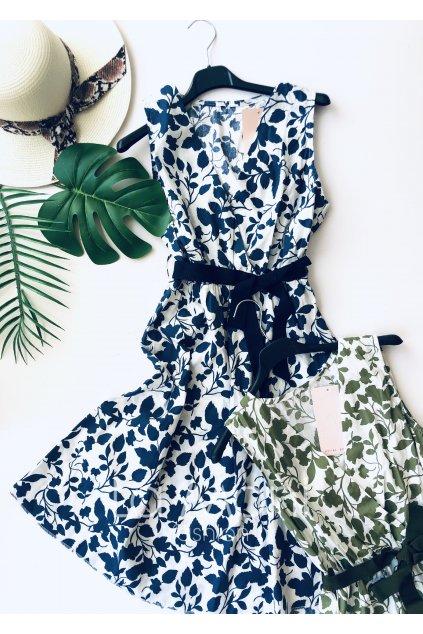 Šaty květované s mašlí