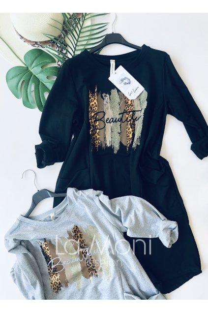 Úpletové šaty BEAUTIFUL s kapsami oversize