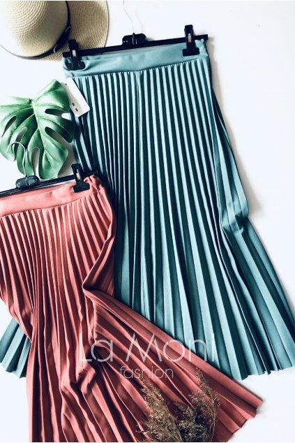Luxusní delší plisované sukně