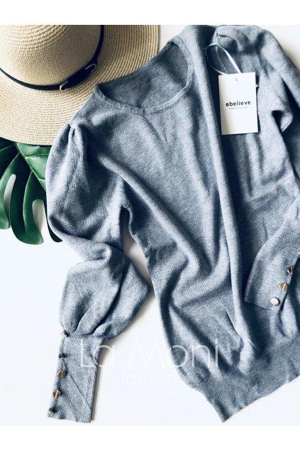 Heboučký cute svetřík s knoflíčky