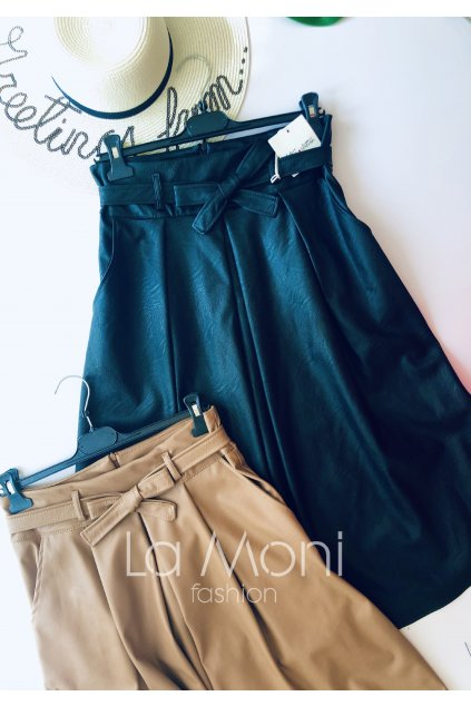 Koženkové sukně s kapsami