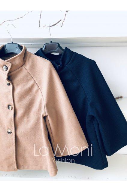 Krátký flaušový kabátek