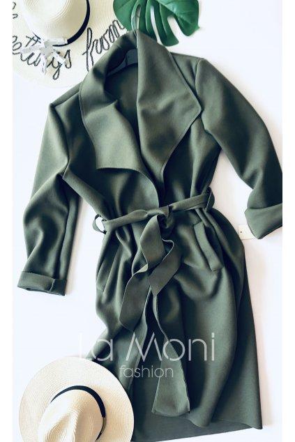 Dlouhý boží kabát- kardigan styl na zavázání