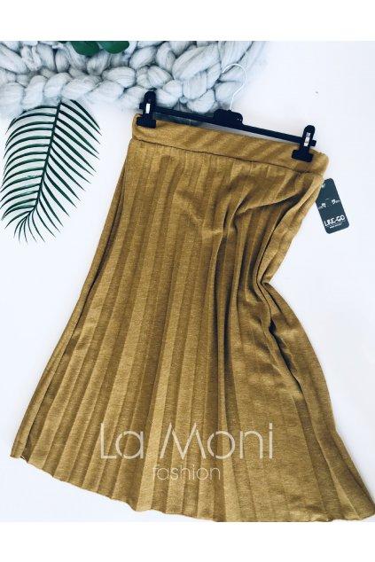 Plisovaná podzimní - jarní sukně