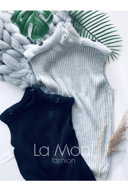 Stylový svetr bez rukávů - vesta