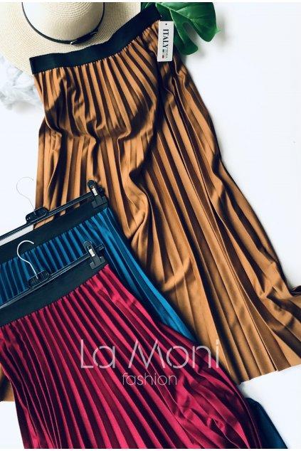 Plisovaná luxusní dlouhá sukně