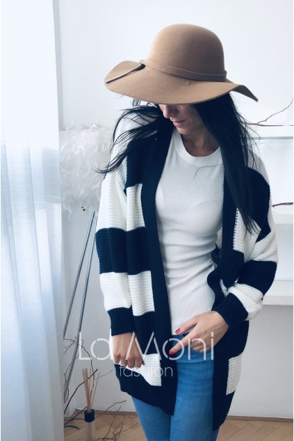 Pruhovaný stylový kardigan