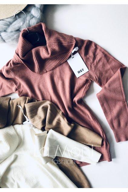 Příjemný rolákový svetr
