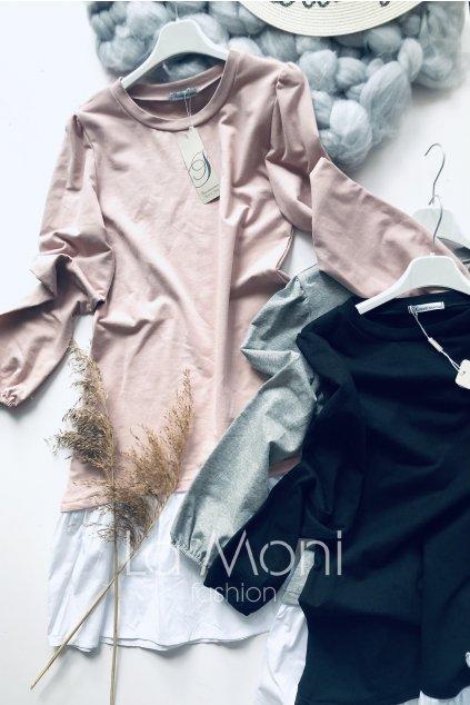Úpletové cute šaty s řasením