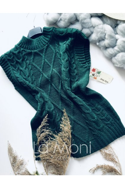 Pletená stylová vesta