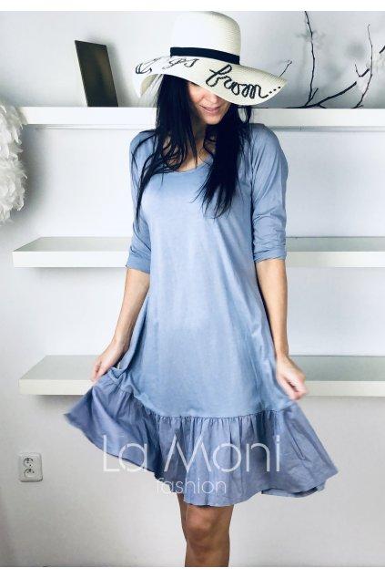 Úpletové šaty s nařasením