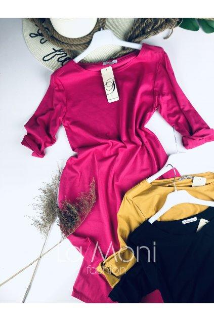 Úpletové delší šaty s kapsami