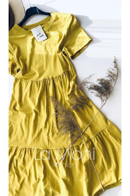 Nařasené šaty - delší střih