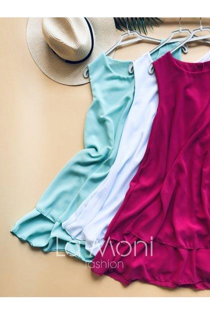 Volné šifonové šaty