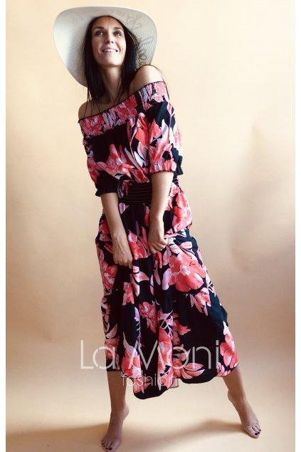Nádherné dlouhé šaty na ramena  M- XL