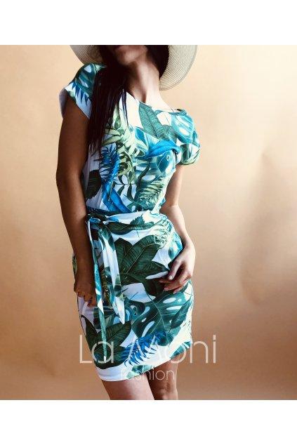 Úpletové šaty vzorované