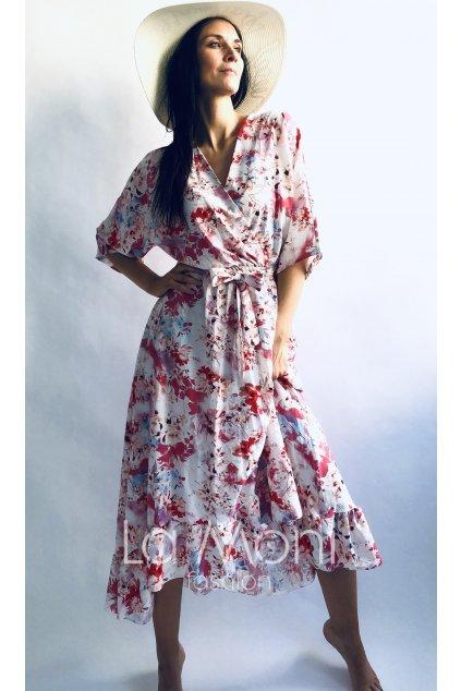 Dlouhé květinové šaty