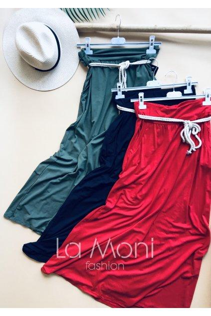 Úpletová pohodlná sukně  s kapsami