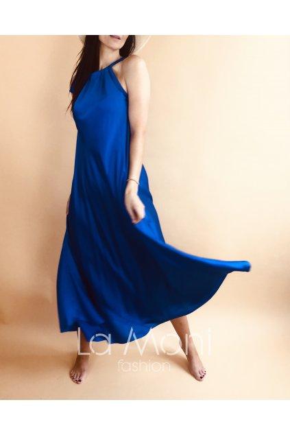 Saténové luxusní dlouhé šaty