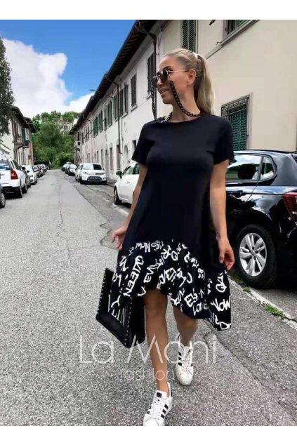 Šaty s nařaseným detailem m- xl